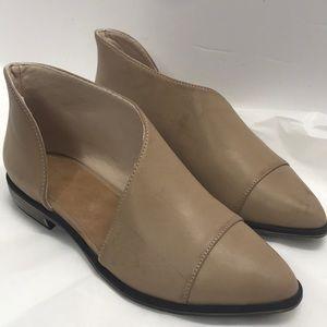 Open-Side Beige Shoes Size 8 women's